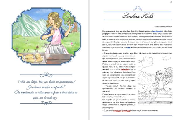 Livro ilustrado imagem